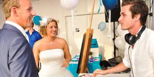 Huwelijksfeest met bruiloftdj