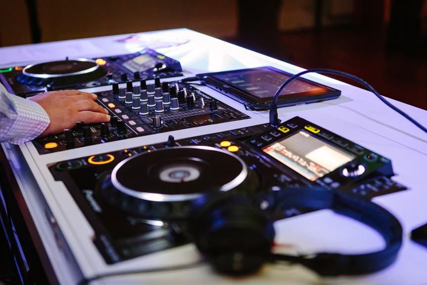 Bruiloft DJ in actie