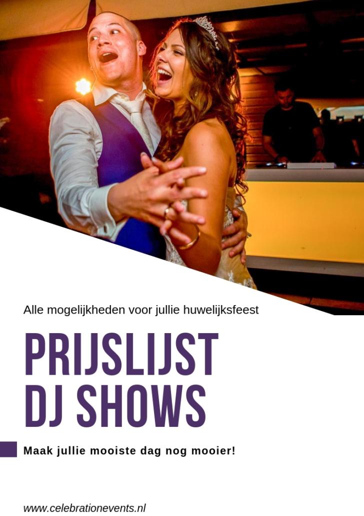 Prijslijst bruiloft dj's & shows